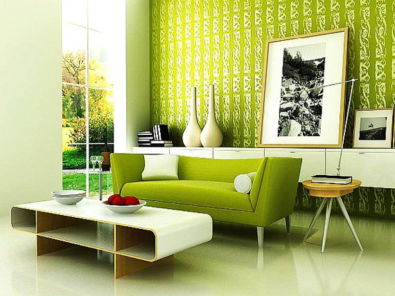 g17 Green Living Room Design Ideas: Decorations and Furniture