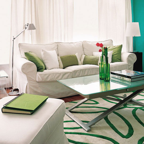 g14 Green Living Room Design Ideas: Decorations and Furniture
