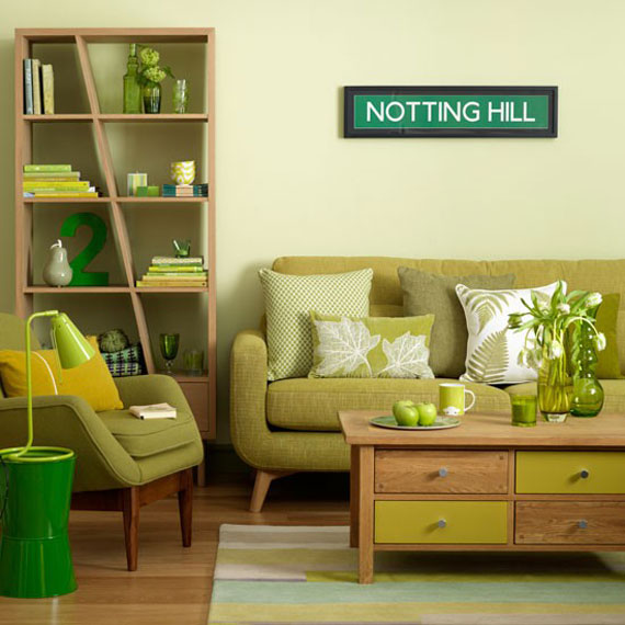 g19 Green Living Room Design Ideas: Decorations and Furniture