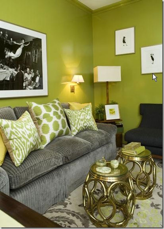 g27 Green Living Room Design Ideas: Decorations and Furniture