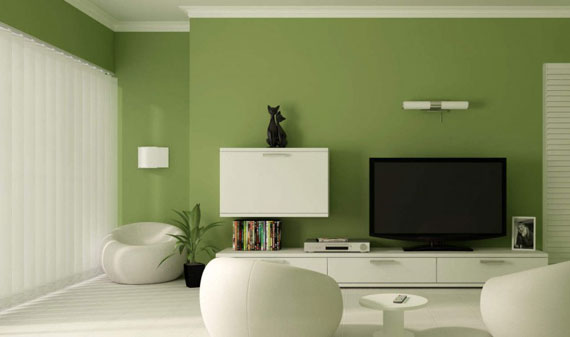 g20 Green Living Room Design Ideas: Decorations and Furniture