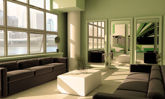 g22 Green Living Room Design Ideas: Decorations and Furniture