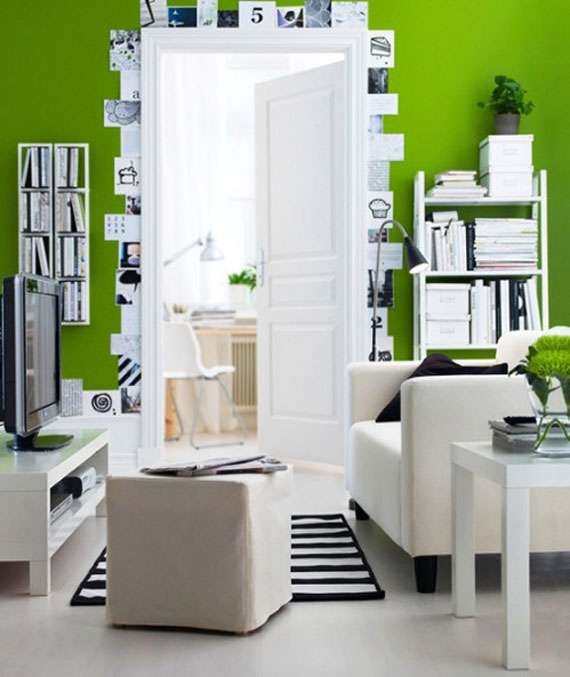 g23 Green Living Room Design Ideas: Decorations and Furniture