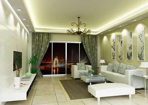 g31 Green Living Room Design Ideas: Decorations and Furniture