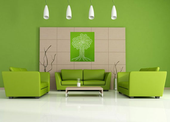 g30 Green Living Room Design Ideas: Decorations and Furniture