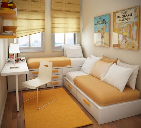 p11 Decorating small bedrooms with style - 34 examples
