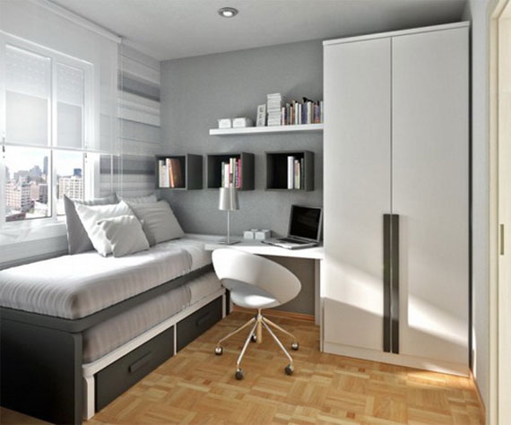 p10 Decorating small bedrooms with style - 34 examples