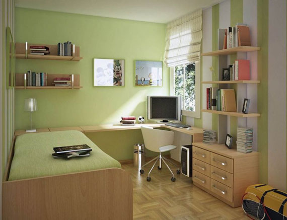 p25 Decorating small bedrooms with style - 34 examples