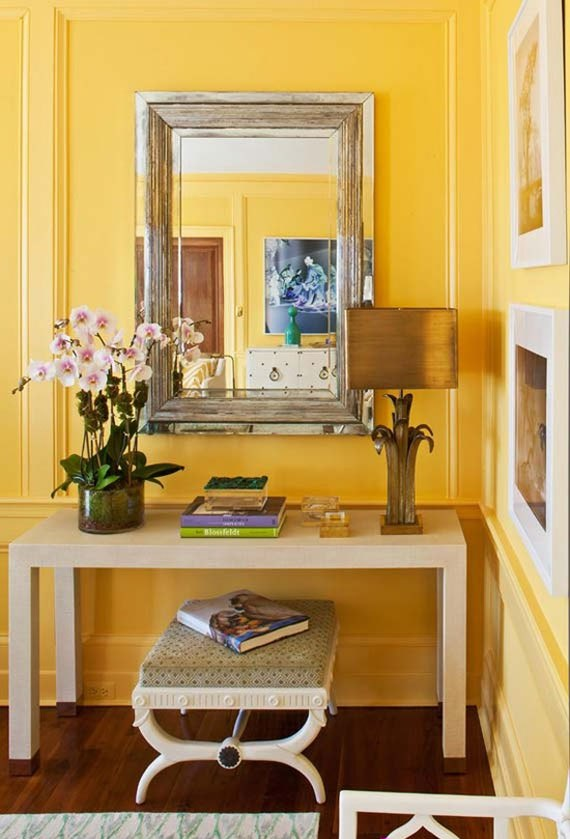 y17 Examples of rooms designed and decorated with yellow