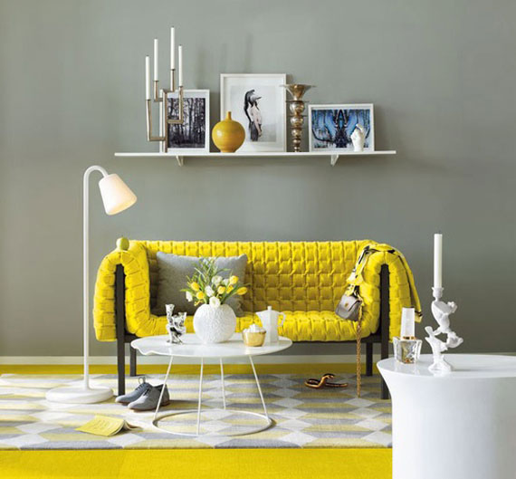y15 Examples of rooms designed and decorated with yellow