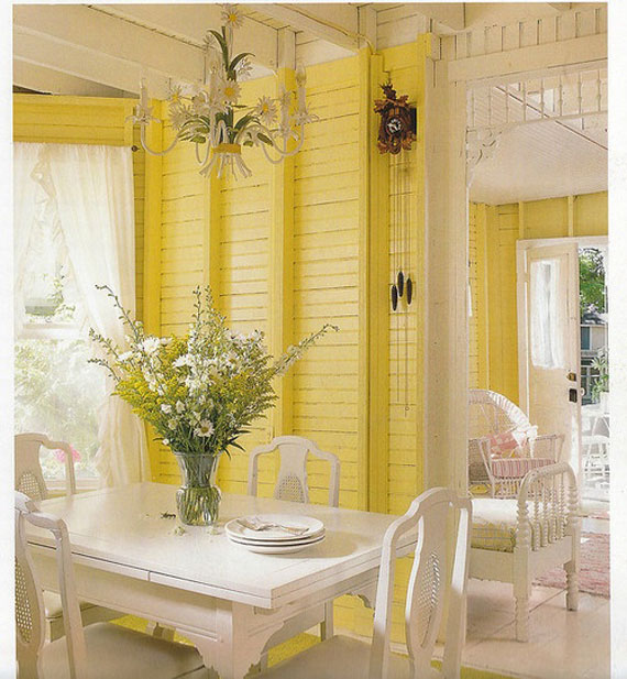 y34 Examples of rooms designed and decorated with yellow