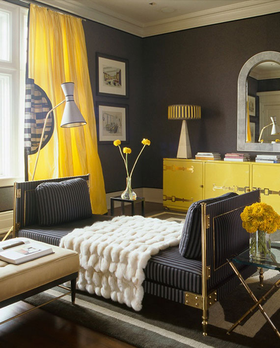 y31 Examples of rooms designed and decorated with yellow