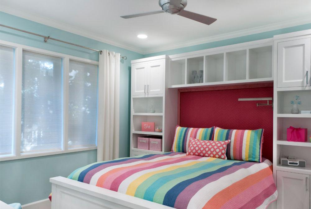Image-1 bookcase headboard design ideas