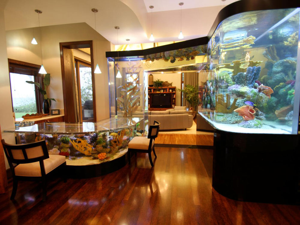 Change the look of your room with this aquarium tank 7 Change the look of your room with these aquarium tanks