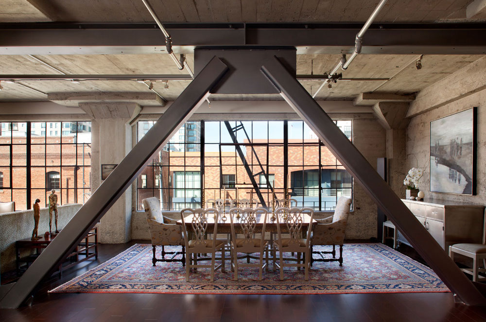 Industrial dining room Contemporary and modern interior design features