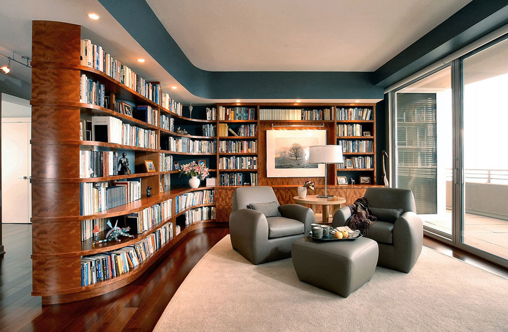Creating a Home Library Design Makes for a Relaxing Space1 Creating a Home Library Design makes for a relaxing space