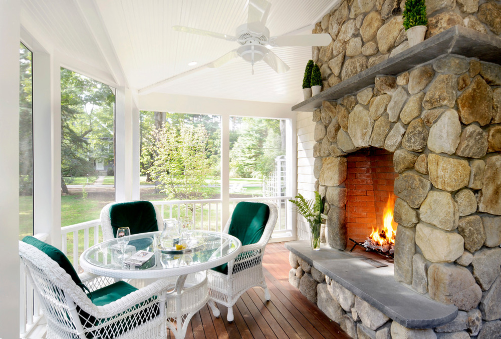 Weston-Historic-District-by-DRM-Design-Build-Inc.  Fireplace stove: decor, stone and cover