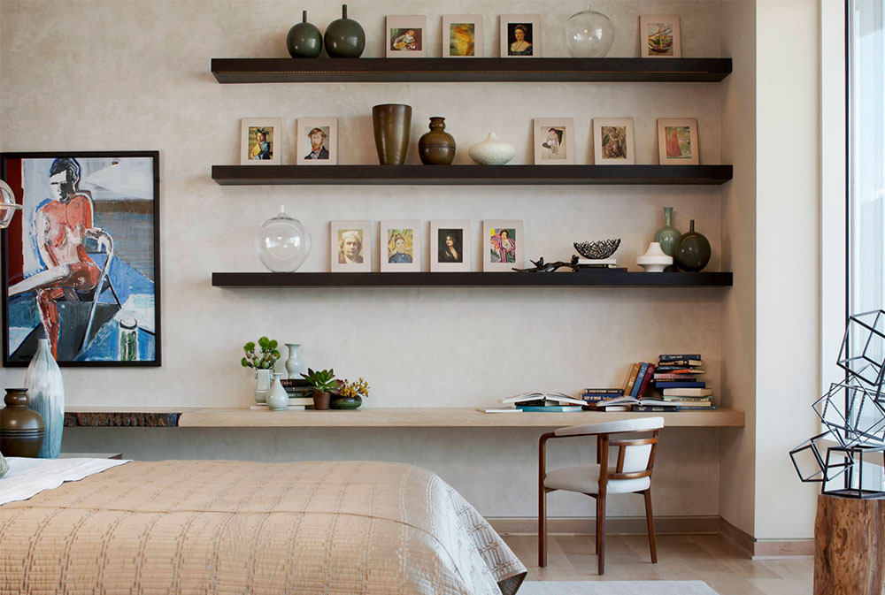 W-Dallas-Penthouse-by-Laura-Kirar-Design Floating Shelving Ideas: How to Hang Floating Shelves