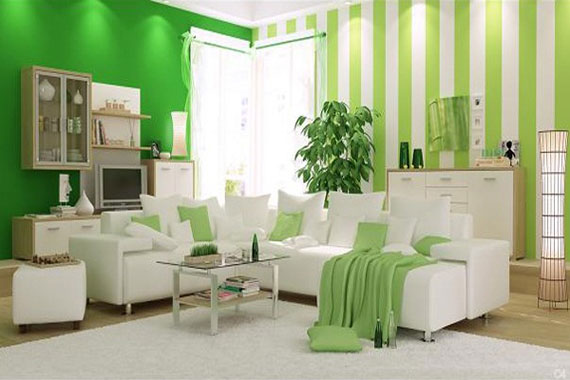 g6 Green Living Room Design Ideas: Decorations and Furniture