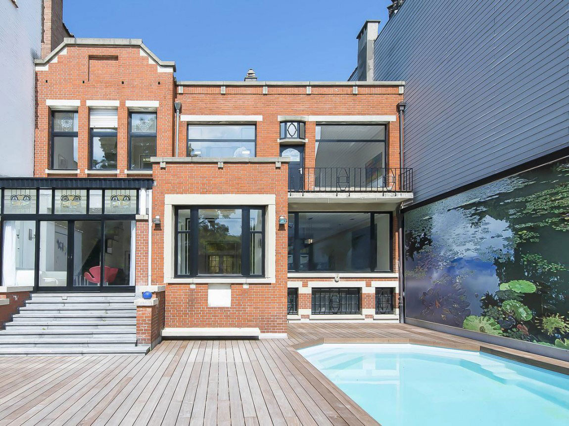 House-with-Art-Deco-Architecture-1 House with Art-Deco-Architecture in Belgium