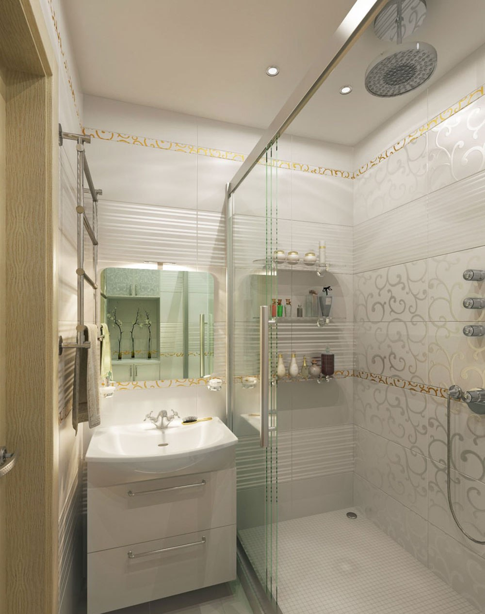 How to decorate a small bathroom and still save space 5 How to decorate a small bathroom and still save space