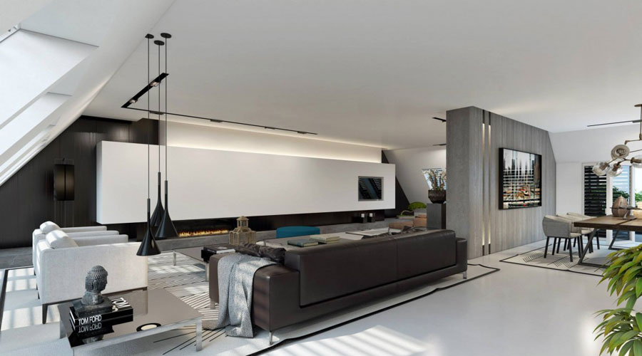 1 Impressive visualization of a stylish apartment interior by Ando Studio