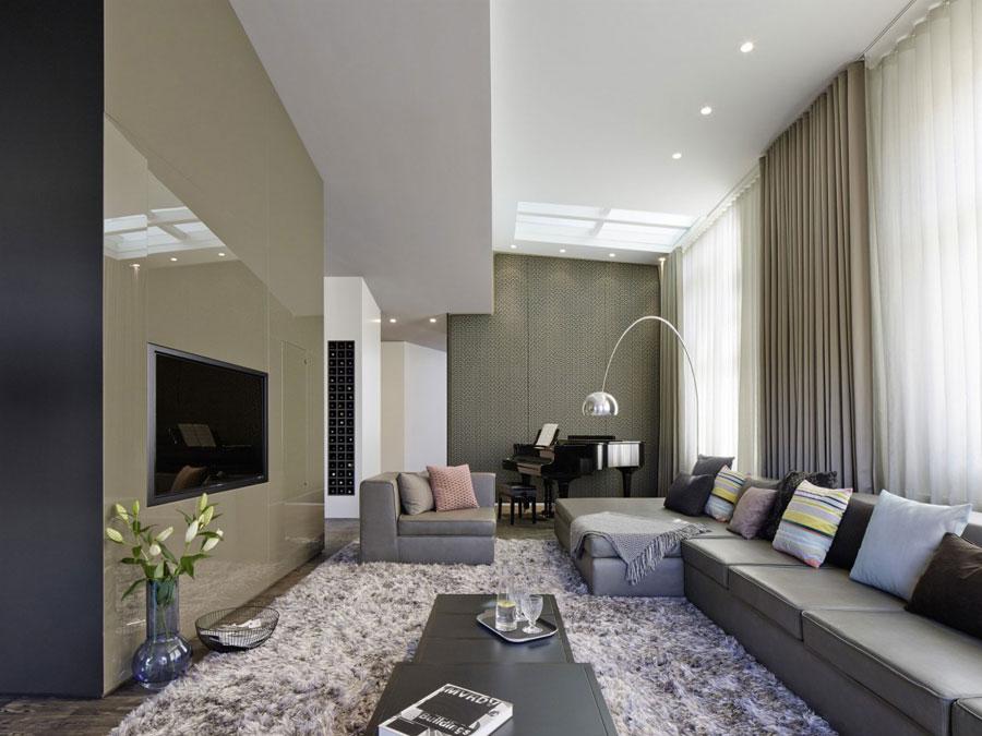 1 Modern and futuristic interior design for a loft