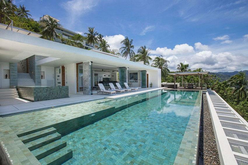 Modern-Tropical-VIlla-1 Modern tropical VIlla with a huge, sparkling pool