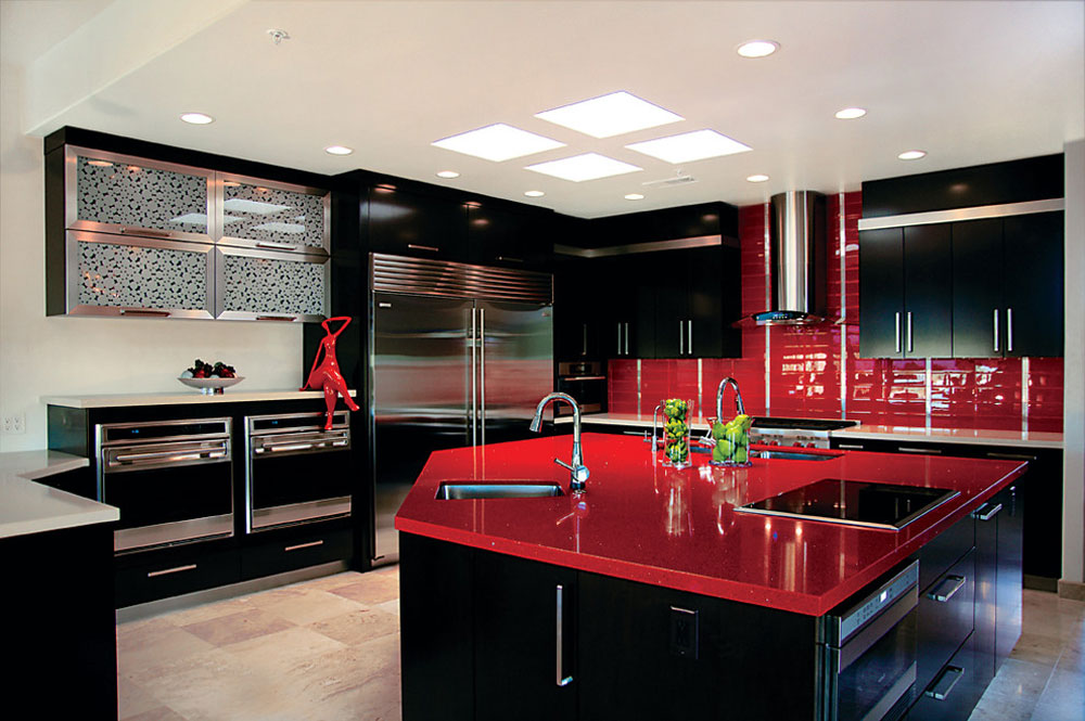 Rysso-Peters-by-Rysso-Peters-Red kitchen design: ideas, walls and decor