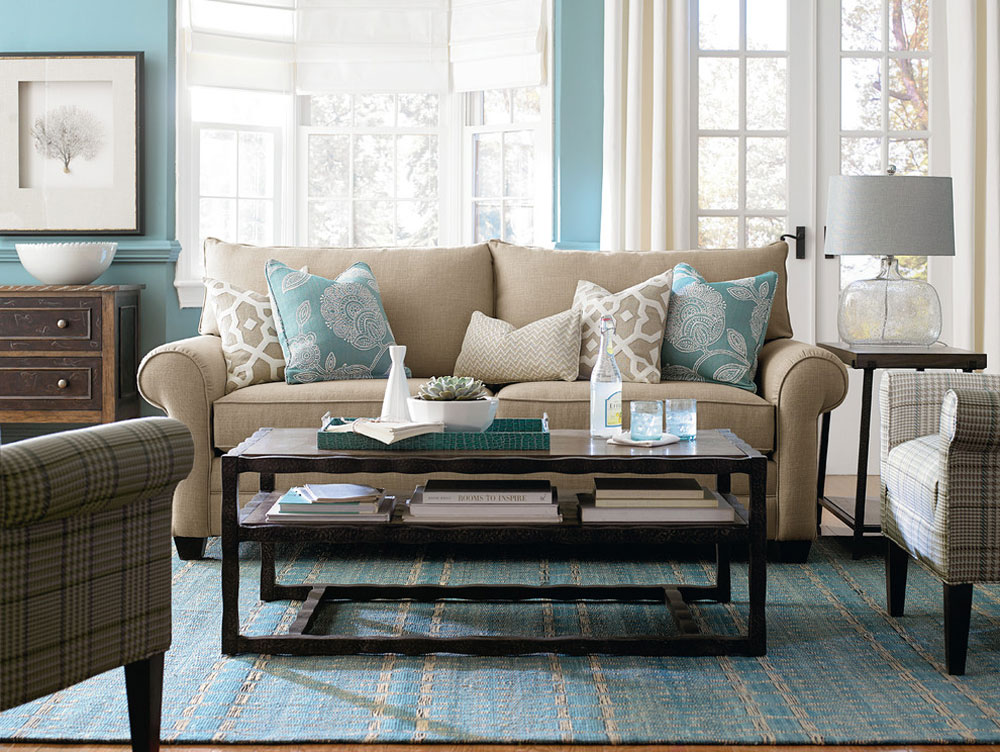 Living-Rooms-by-Woodchuck-Fine-Furniture-Decor The aqua color: How to decorate your house interior with it