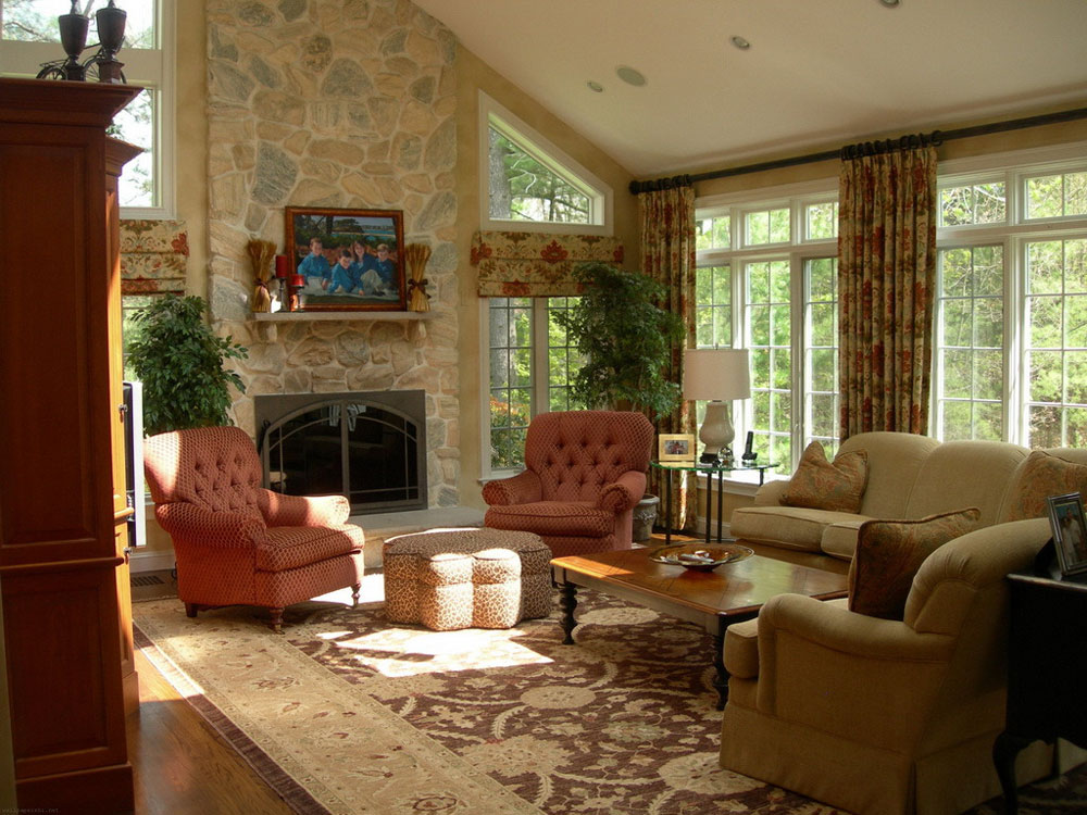 Overall decor The beauty of the English country house style
