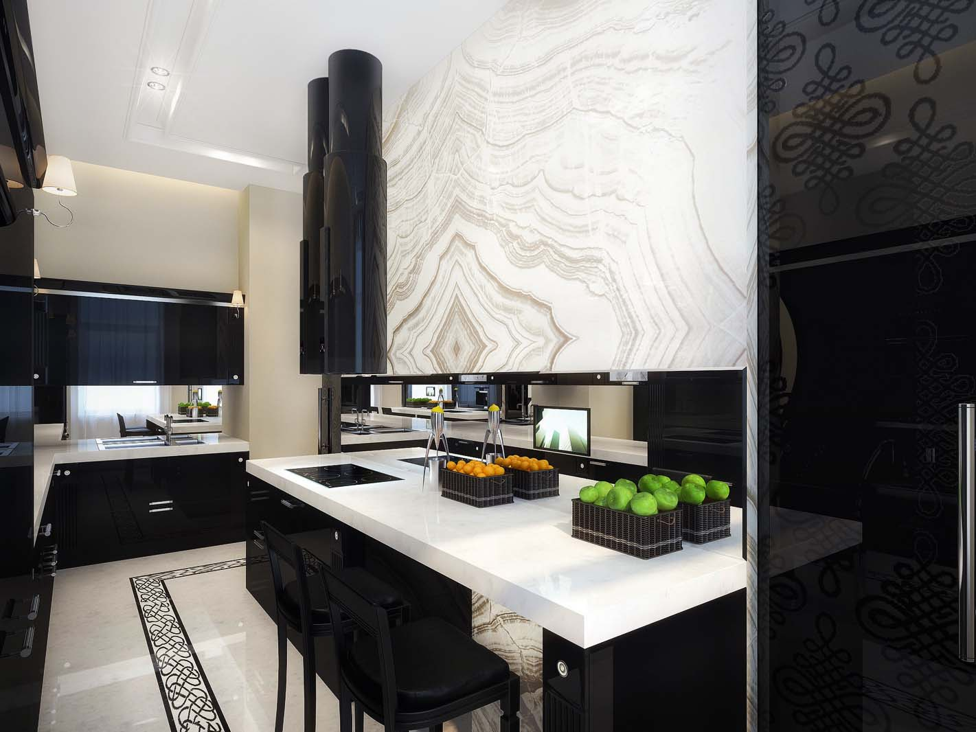 b15 The unexpected stylish look of black kitchen designs