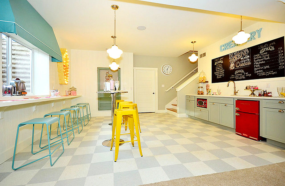 Great-color-scheme-for-small-ice-cream-shop-design-with-bar-idea-and-stairs-through-living-and-building-union-of-Colorado-Springs Top tips for spring decoration