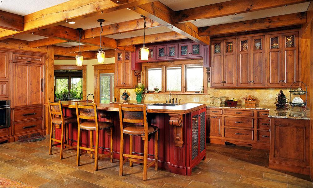 Warm-cozy-and-inviting-rustic-kitchen-interior-13 Warm, cozy and inviting rustic-kitchen interior