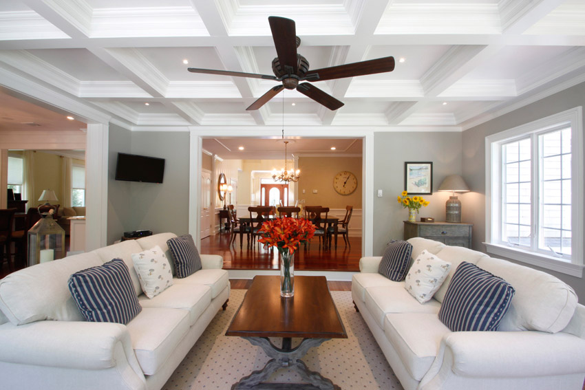 Tilton-Coffered-Ceilings-1 What color should I paint my ceiling?