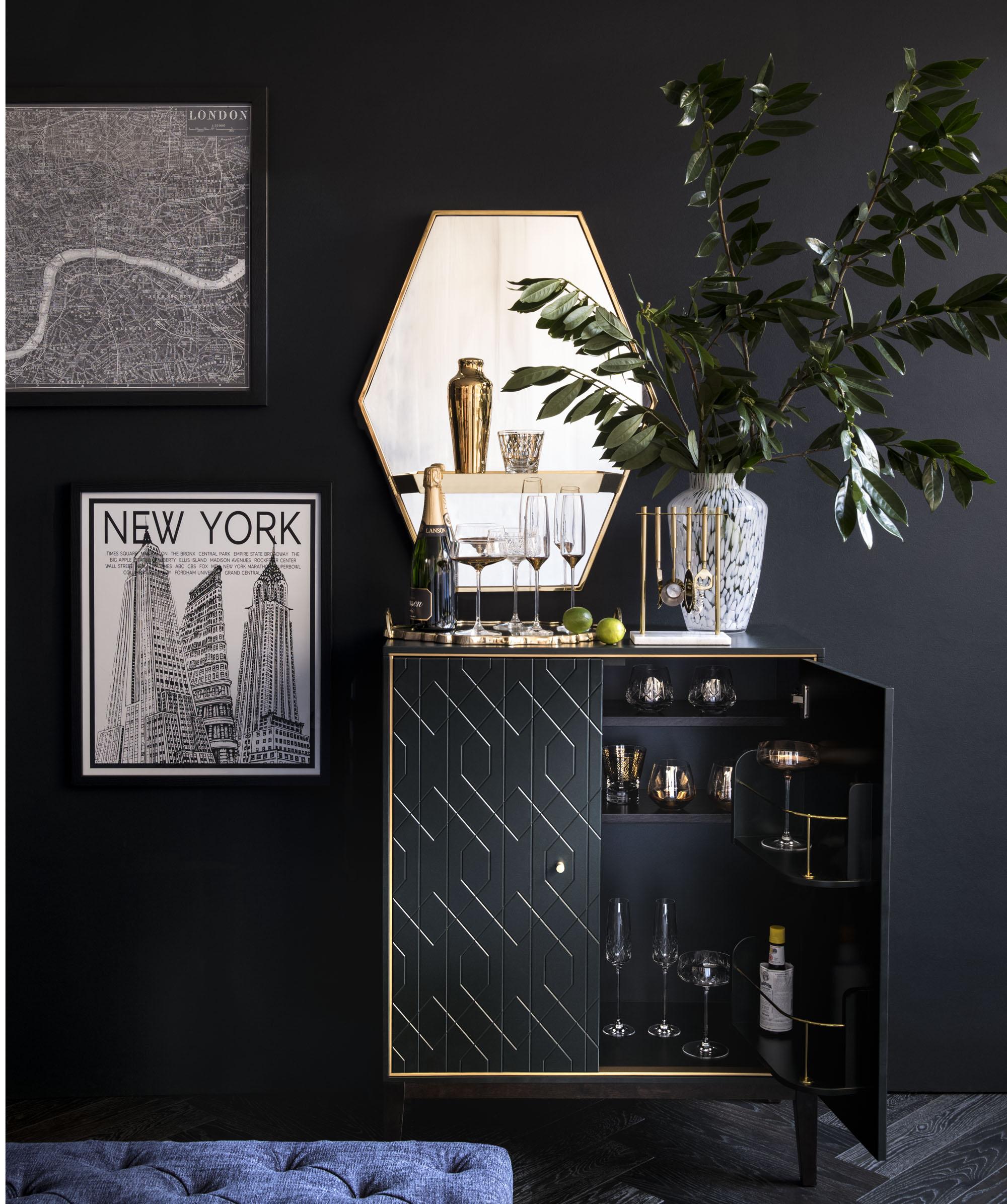 Art Nouveau interior design with style, decor and colors