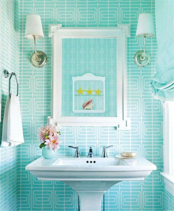 Blue bathroom ideas.  Design, decor and accessories