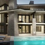 Contemporary three story home designed by Signature Custom Homes