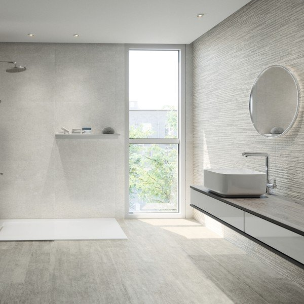 Creating a white bathroom interior design