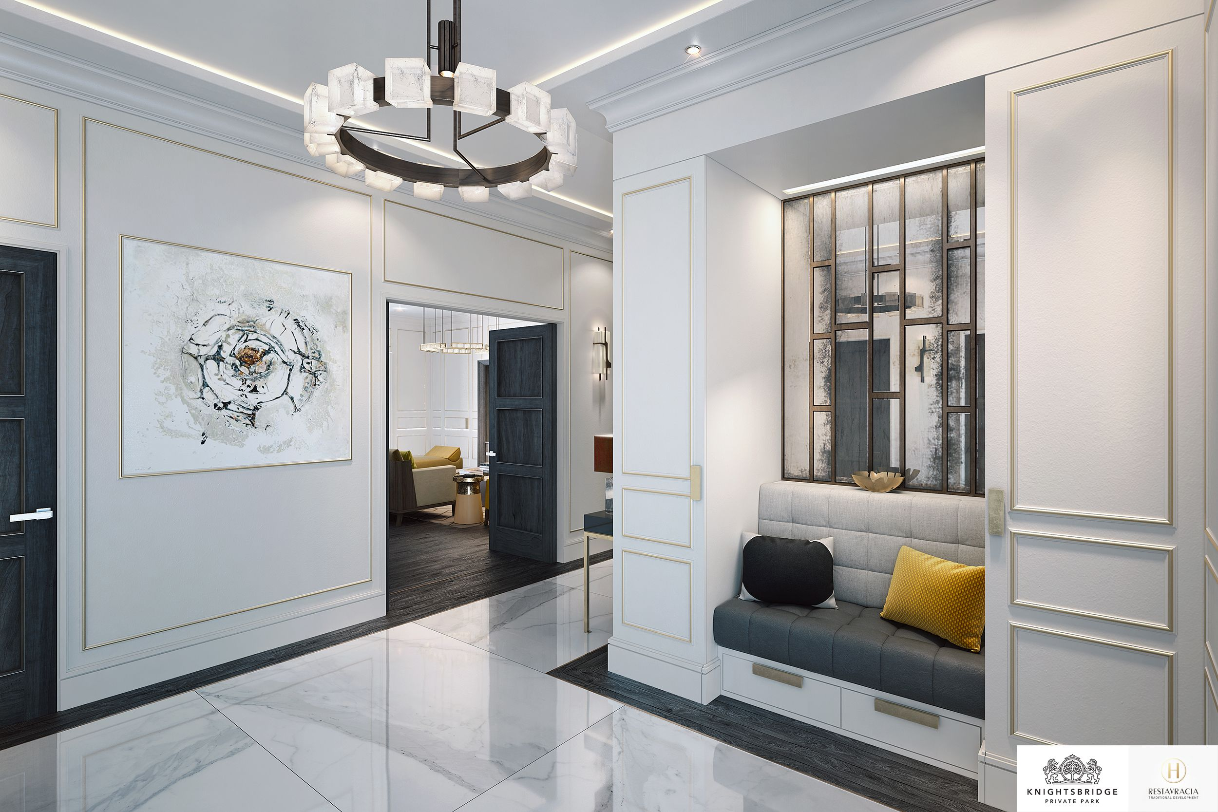 Creation of the interior design for the entrance hall