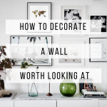 Decorate walls with pictures