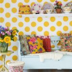 Decorate your home interior with polka dots