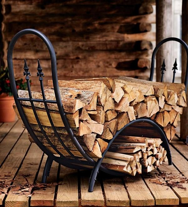 Design ideas for firewood storage