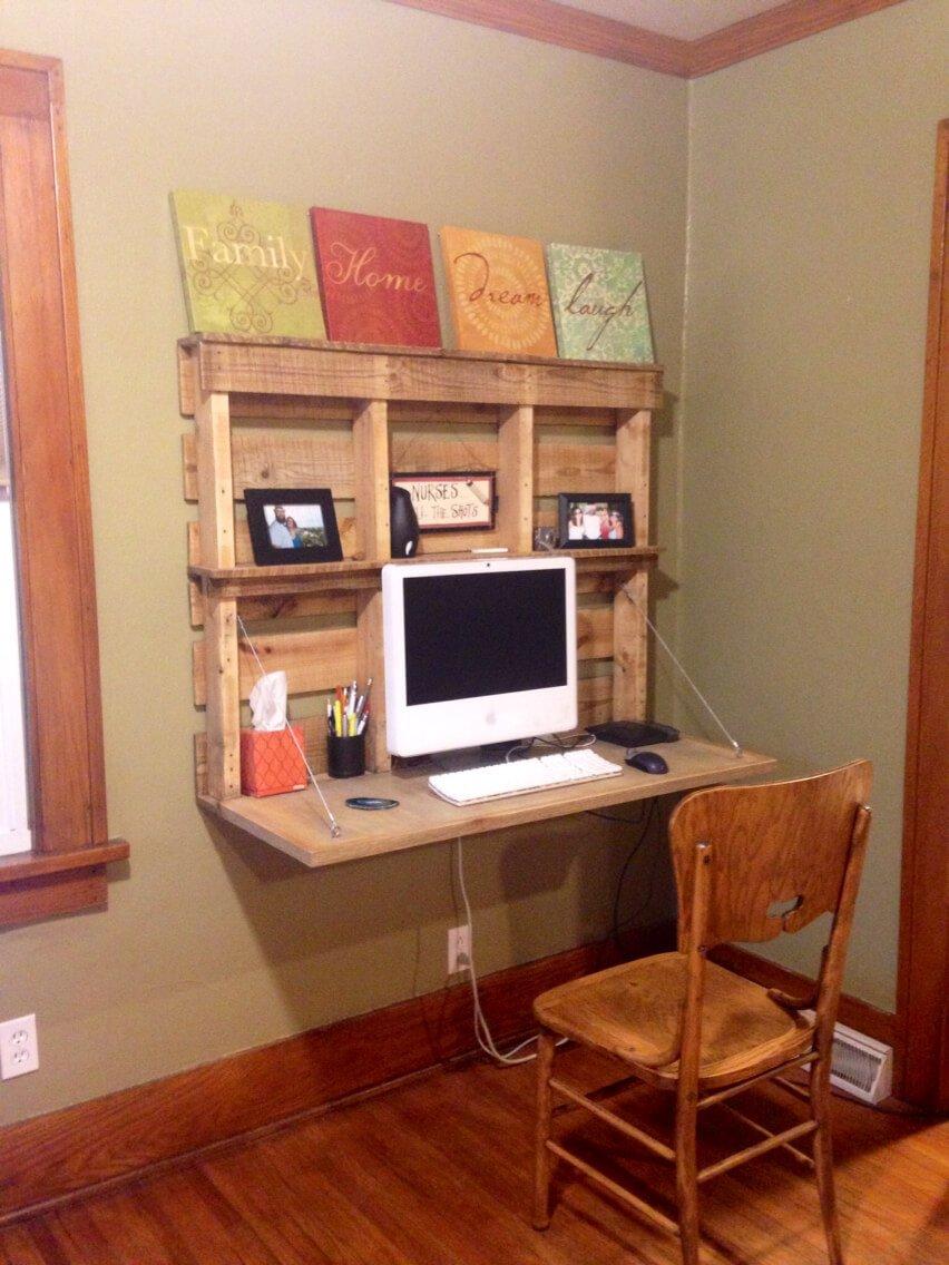 DIY wall mount desk design ideas