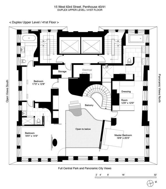 Elegant and modern duplex penthouse in the Park Laurel Condominium