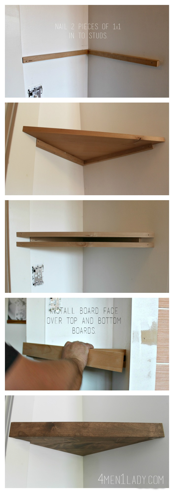 Floating Shelf Ideas: How to Hang Floating Shelfs
