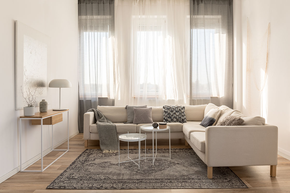 How to make a living room look bigger