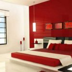 Importance of red color in interior design and decoration ideas