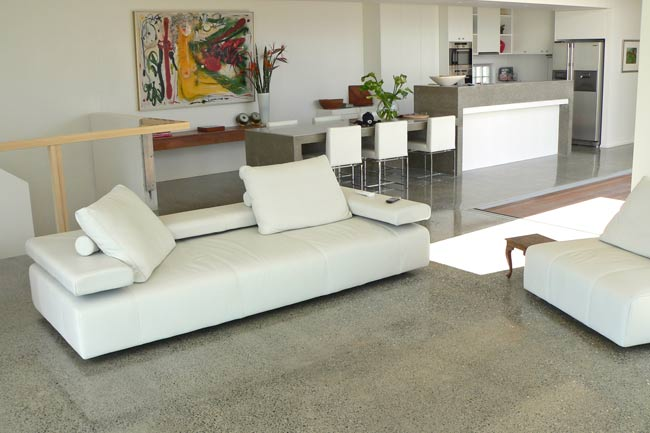 Incorporate polished concrete floors into your home