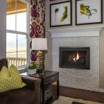 Interior design showcase of the living room with a fireplace